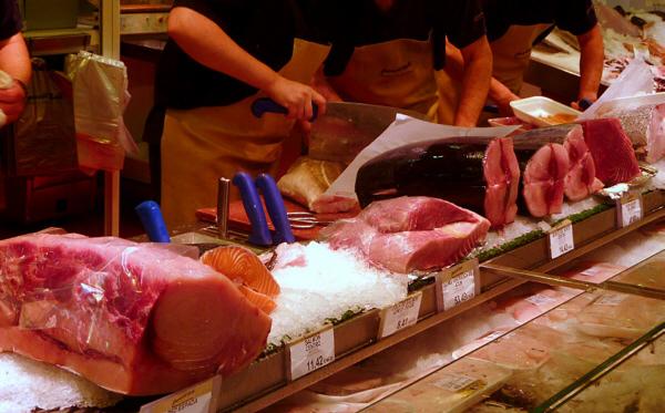 Pescaderías Ernesto Prieto en el Mercado de Chamartín