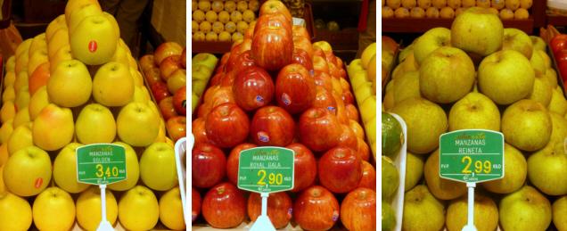 Manzanas Golden, Royal Gala, Reineta, Fuji, Ambrosía...