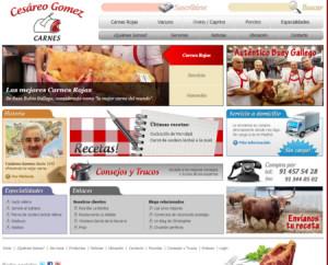 Web de Carnes Cesáreo Gómez