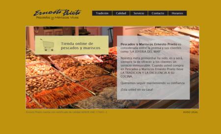 Web Pescadería Ernesto Prieto