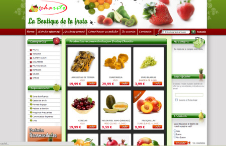 Web de Frutas Charito