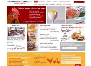 Web de Pollería Hermanos Gómez