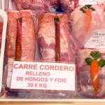 Carré de cordero relleno de foie y hongos de Carnes Cesáreo Gómez
