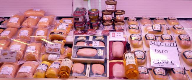 Variedad de foie en Pollería Selecta Hermanos Gómez