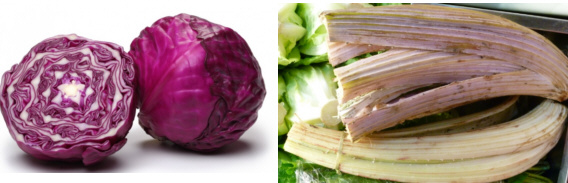 Dos verduras navideñas: lombarda y cardo