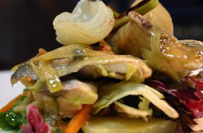 Ensalada de escabeche de verdel del Restaurante Urkiola Mendi