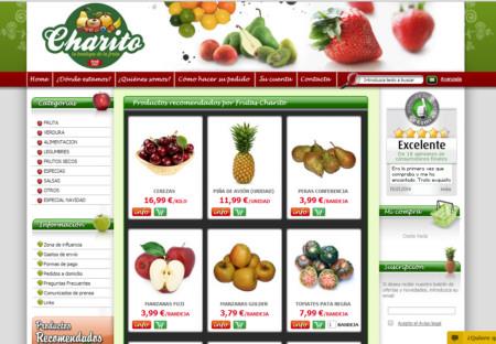 Página web de Frutas Charito
