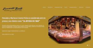 La web de la Pescadería Ernesto Prieto