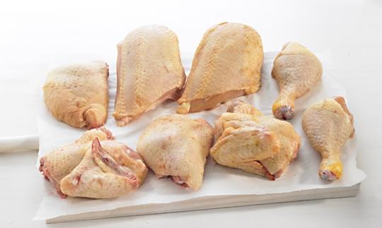 Pollo ecológico por piezas