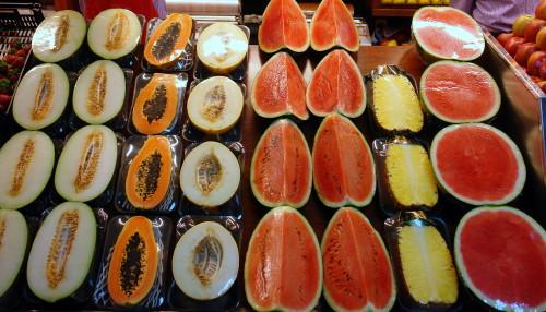 Melón, papaya, sandía, piña de Frutas Charito