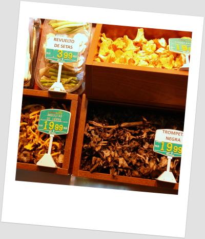 Setas y hongos en Frutas Charito