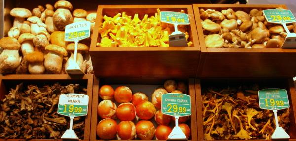 Setas de otoño en Frutas Charito