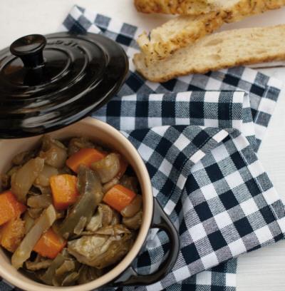 Receta de estofado con verduras de invierno
