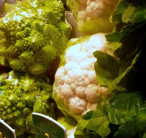 Verduras también las comidas de Navidad