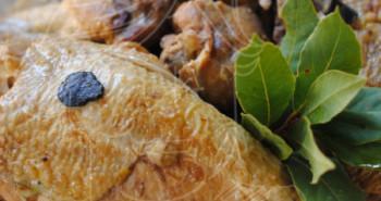 Receta de pintada de las Landas en salsa de almendras