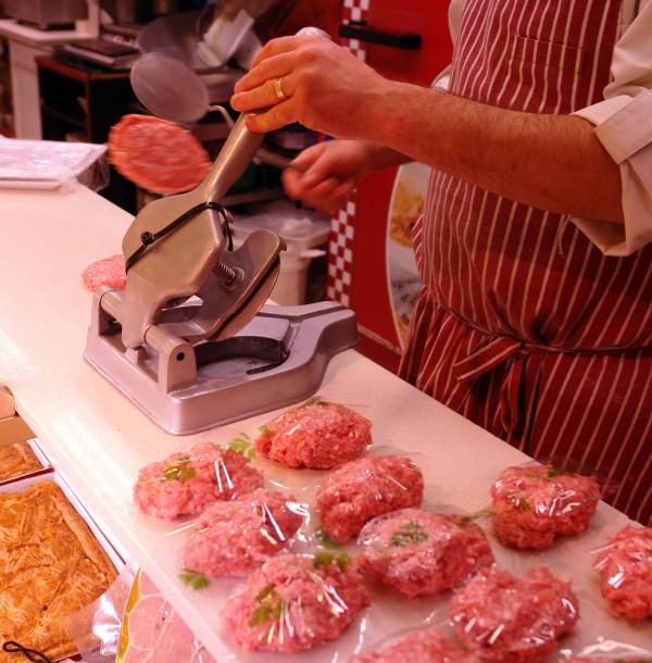 Hamburguesas de pollo de Pollería Hermanos Gómez