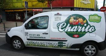 Vehículo de reparto eléctrico de Frutas Charito
