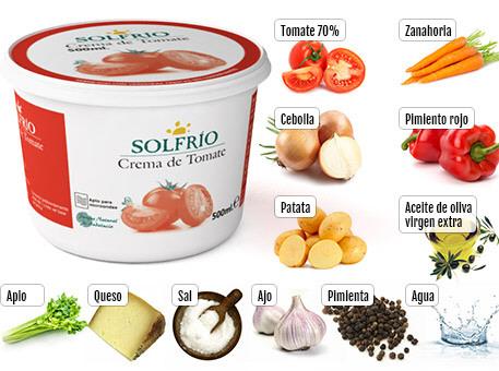 Crema de tomate listas para consumir