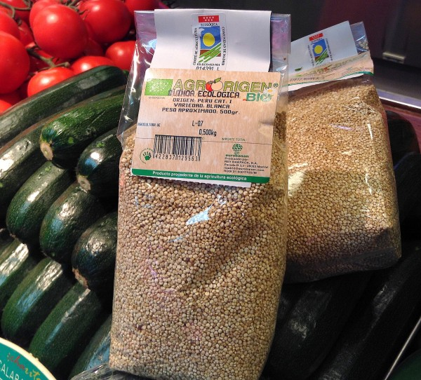 Semillas de quinoa ecológica