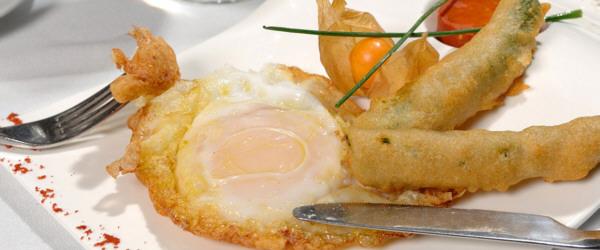 Huevo de Oca del Duratón fritos