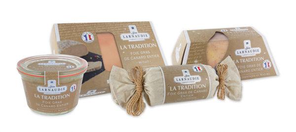 Línea de foie gras Larnaudie Tradición