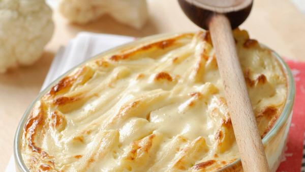 Pastel de coliflor y queso