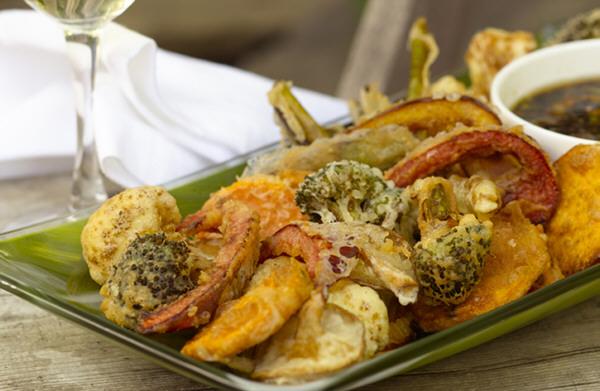 Vegentales en tempura