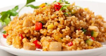 Receta de arroz con pollo y bacon